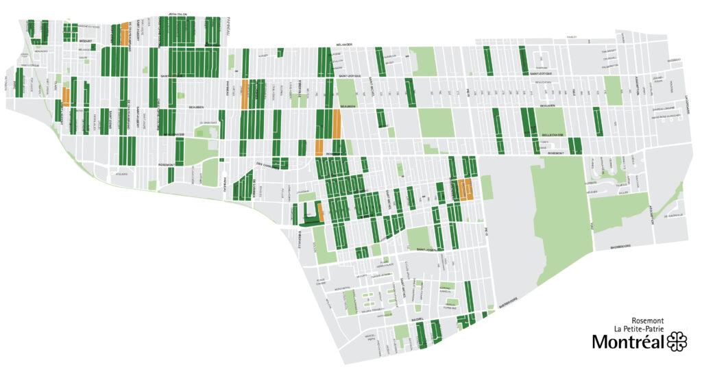 Carte des ruelles vertes de Rosemont-La Petite-Patrie - 2021